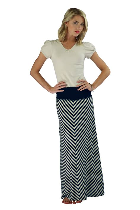 modest skirts chevron maxi skirt in navy stripes