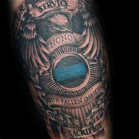 law enforcement tattoos 50 tattoos for enforcement officer design