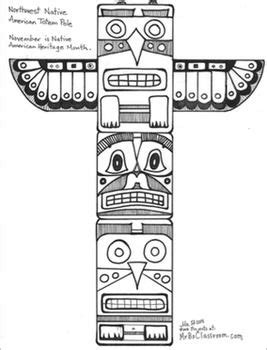 totem pole design template american activity pack totem pole totem cubes