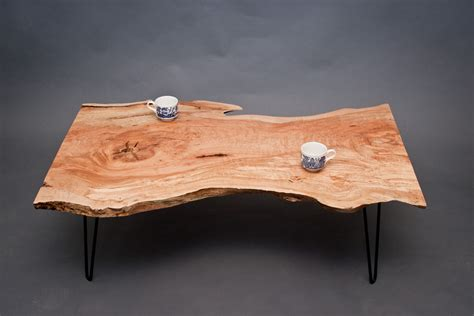 Calvin Maple Coffee Table Reclaimed Live Live Edge Coffee Table