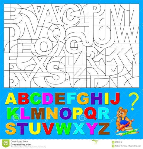 lettere nascoste pagina educativa per i bambini piccoli debba trovare le
