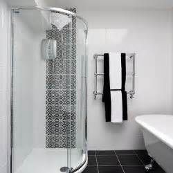monochrome bathroom ideas shower room with chic monochrome tiles shower room ideas