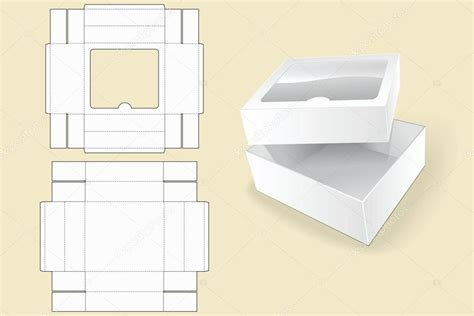 box package template box template packaging white cardboard box vector