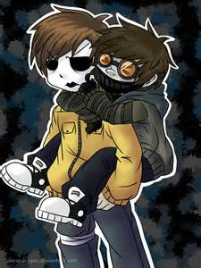 Masky and toby by dersedragon on deviantart