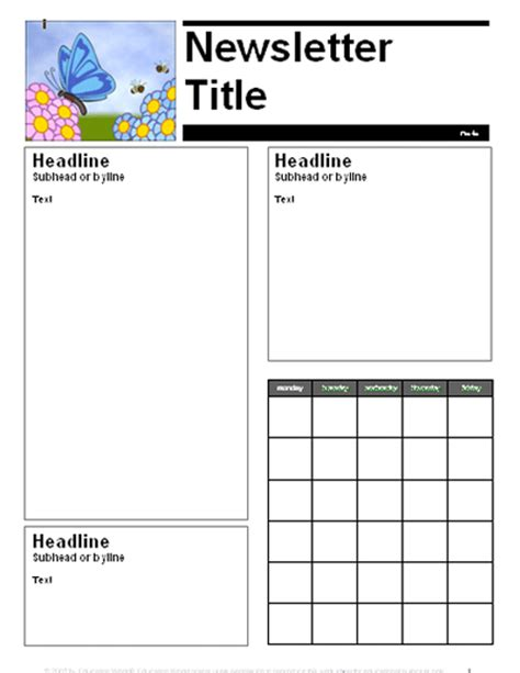 free april newsletter template april parent newsletter template education world