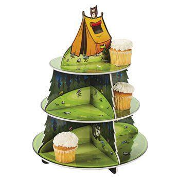 amazon com event party supplies home kitchen c adventure cupcake holder party decorations cake