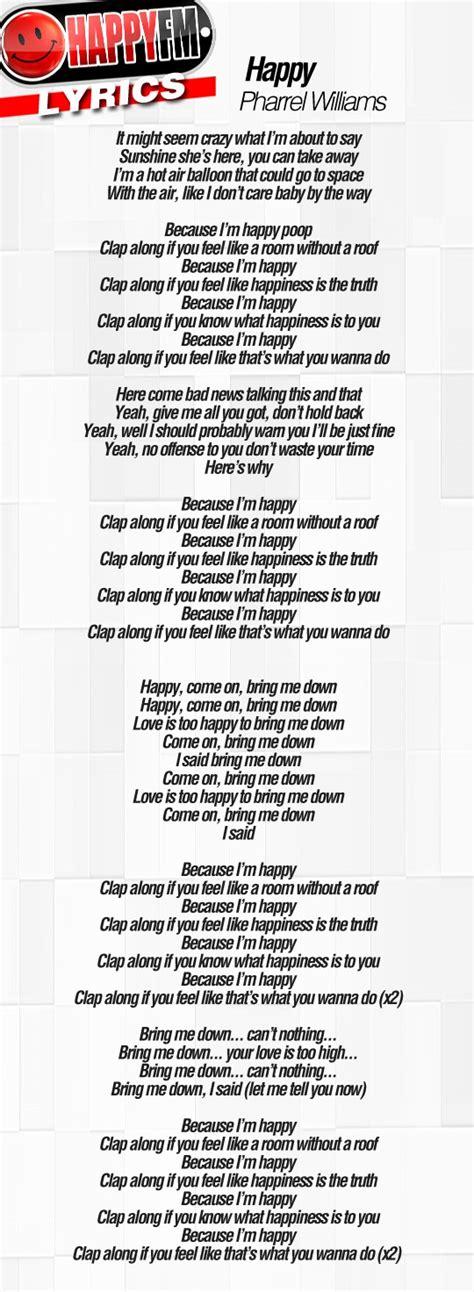 printable lyrics to happy by pharrell williams wonderwall lyrics familjens vattenf 246 rfaranden