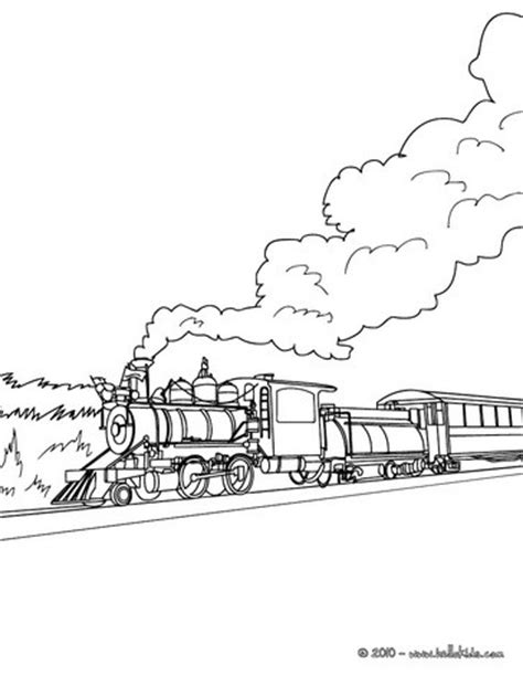 steam engine in the landscape coloring pages hellokids com
