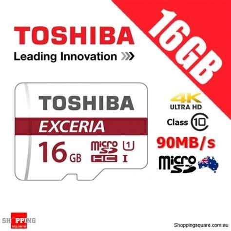 Memory Card Mmc Micro Sd Toshiba 16gb 16 Gb Murah Bagus toshiba exceria 16gb microsd microsdhc memory card 90mb s shopping shopping square