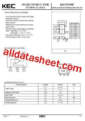 Kec Kia324p kia75s358f データシート pdf kec korea electronics