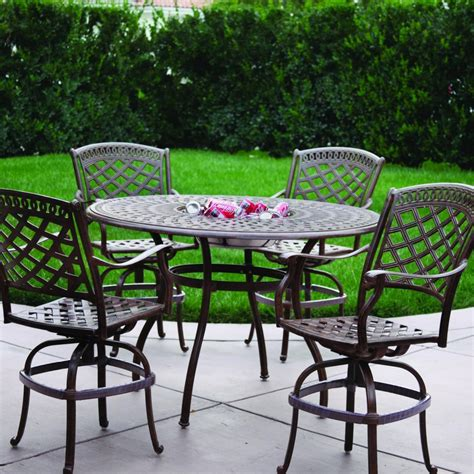 At Home Patio Furniture Trying Bar Height Patio Table And Chairs At Home