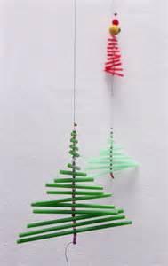 tanne deko weihnachten strohhalm kinder basteln pajita 225 rbol de navidad deco ni 241 os manualidad