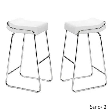 Zuo Modern Bar Stools White by Wedge Bar Stools White