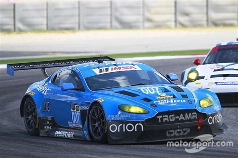 trg aston martin racing leading by only one point trg aston martin racing is