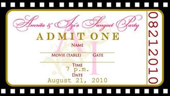 ticket invite template ticket invitation template free