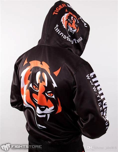Vest Zipper Hoodie Muay Thai S9a5 2017 mma hoodie tiger muay thai fighting zipper hoodies fleece jacket sweatshirts suit