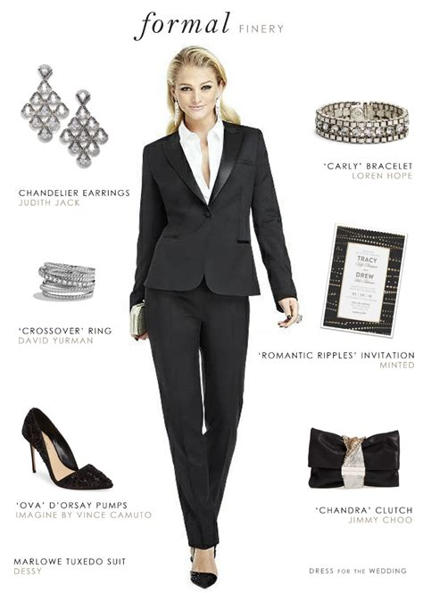 black tie event dress guide for women source http www women s tuxedo for a wedding or black tie event dress