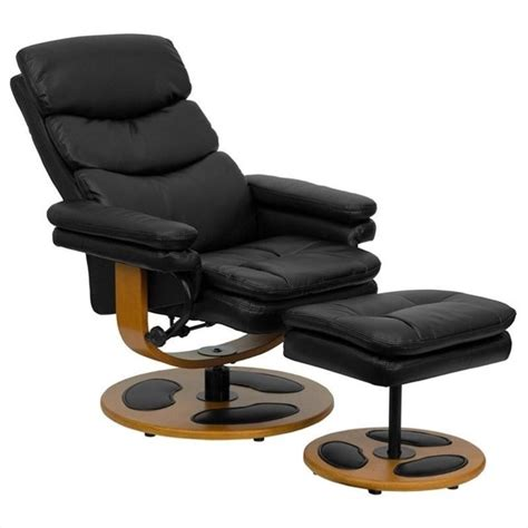 contemporary recliner with ottoman contemporary black recliner and ottoman with base bt