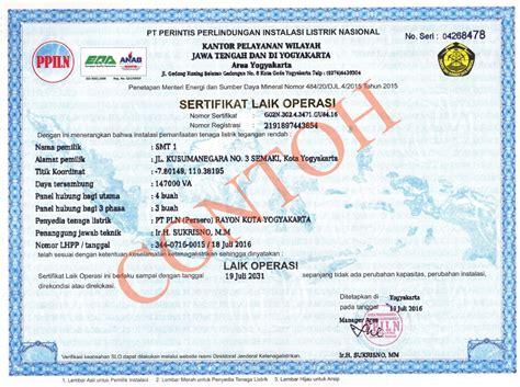 pt ppiln sertifikat laik operasi slo