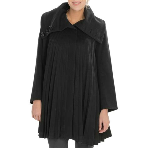 womens swing coat wool george simonton pleated swing coat wool blend for women