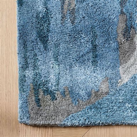 west elm blue rug mural collection cliffside rug blue teal west elm uk