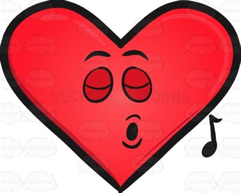singing emoji cartoon clipart singing heart emoji