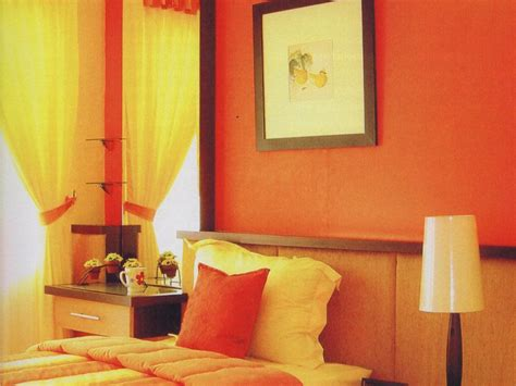 orange paint color  living room  ideas