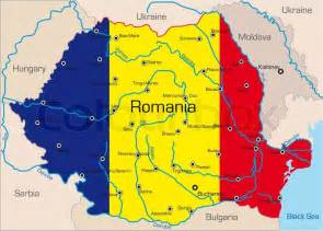 European Home Plans Abstract Vector Color Map Of Romania Country Coloured By