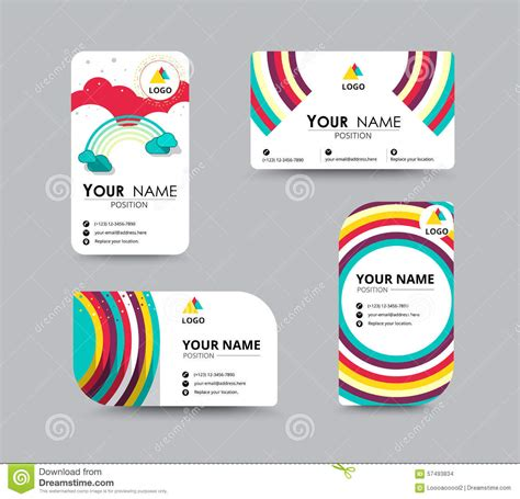 Card Template Vector by Business Contact Card Template Design Vector Stock Stock