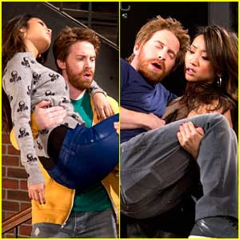 actress lifting and carrying actor brenda song new dads january 14th brenda song just