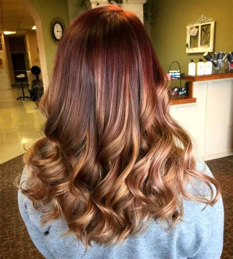caramel and burgandy highlights on older ladies hair trendsetting brown ombre hair solutions for any taste