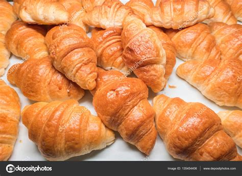 Croissant Bread croissant bread on table in buffet stock photo