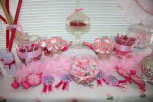 other pink candy buffet