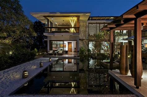 home lighting design india courtyard house in ahmedabad india home design