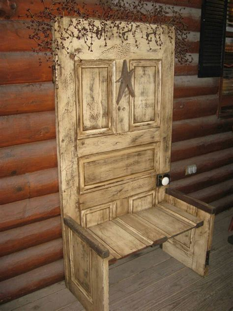 make an old door into a bench country decor pinterest