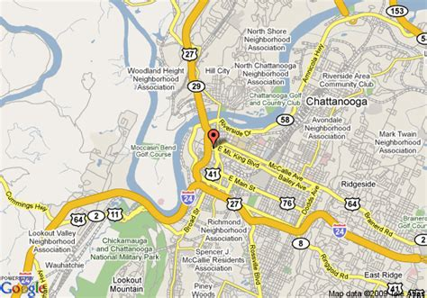chattanooga map map of chattanooga tn streets pictures to pin on pinsdaddy