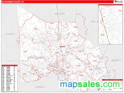 Montgomery County Zip Code Map by Montgomery County Tx Zip Code Wall Map Red Line Style By