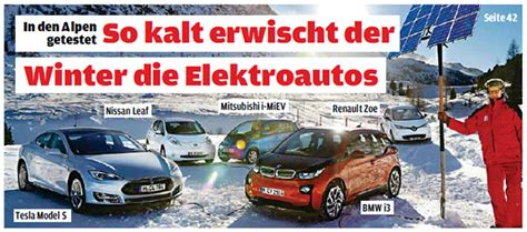 Autobild Cover by Electric Car Range In Winter From European Perspective