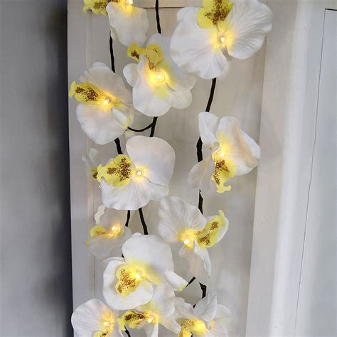 orchid lights orchid light garland by lilly notonthehighstreet