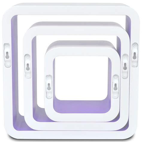 mensole per dvd 3 mensole per pareti bianche viola mdf per libri dvd
