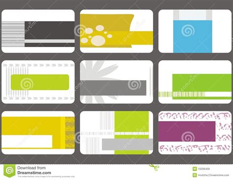 Credit Card Template Corel Business Card Templates Collection Royalty Free Stock Images Image 10206409