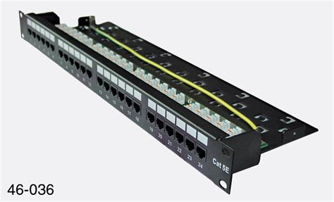 Patch Panel Rj45 Matrix Cat5e Rj45 Patch Panel 1u 24 Way Unshielded