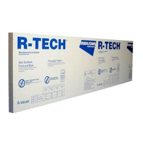 r tech 2 in x 4 ft x 8 ft r 7 7 rigid foam insulation