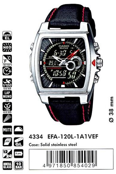 Casio Edifice Efa 100 By I2y Store casio edifice efa 120l 1a1 efa 120l 1a1vef brand new