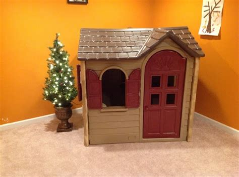 tikes playhouse with brown roof our inspired tikes total home makeover