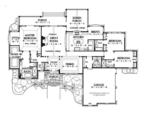 large one story house plan big kitchen with walk in would maybe make the dining room into an enclosed study