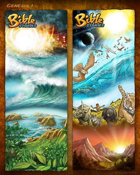 bible stories in genesis bible stories comic strips genesis 1 by eikonik on