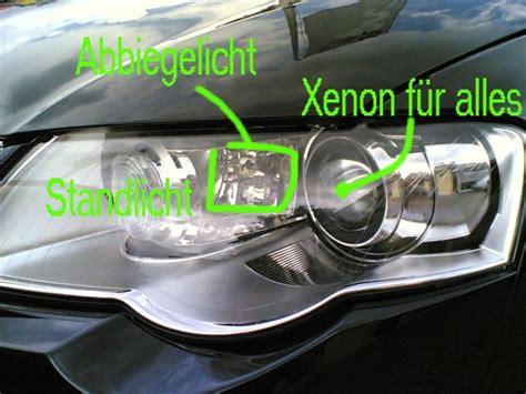 Audi A4 B6 Abblendlicht Wechseln by Abblendlicht Fernlicht Und Lichthupe Mit Xenon Im Passat