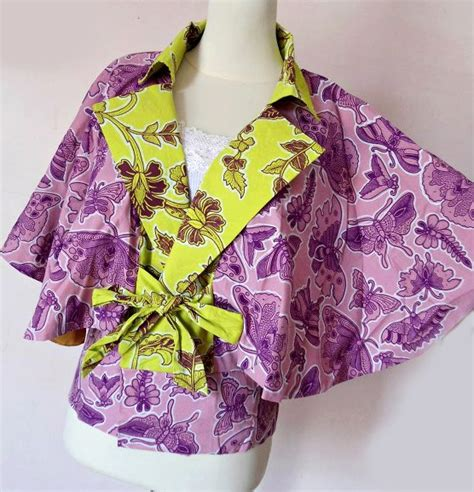 Blouse Batik Cantik Terlaris Blus Javana Sogan Baju Batik Modern Blou kardigan batik model terbaru