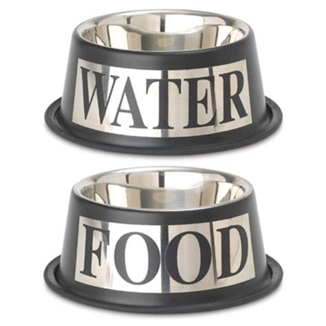 puppy food bowl food and water bowl set stainless steel silver designer bowls at glamoutmutt